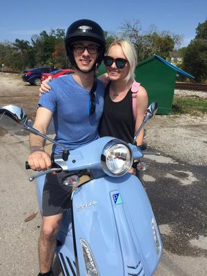 New Vespa Owners - Elliott and Olivia